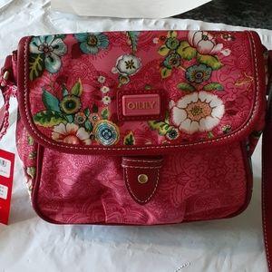 Oilily S Flap Shoulder Bag Color:Pink Nwt